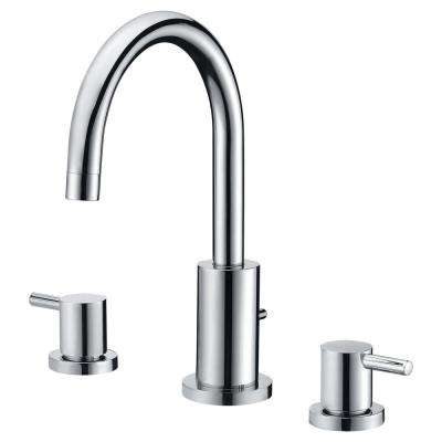 Lien Series 2-Handle Lever Deck-Mount Roman Tub Faucet with Handheld Sprayer in Polished Chrome