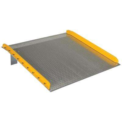 10,000 lb. Capacity 54 in. x 60 in. Aluminum Dock Board with Steel Curb