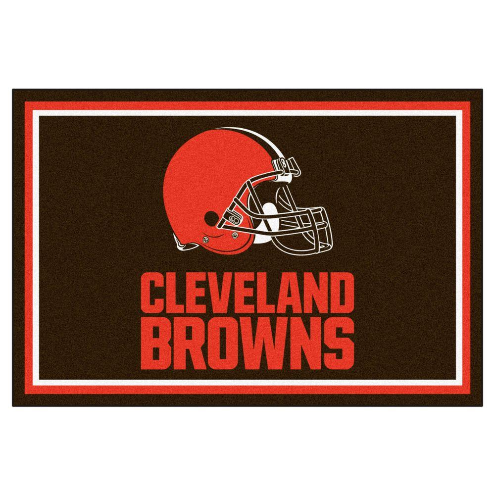 Fanmats Nfl Cleveland Browns Brown 5 Ft X 8 Ft Area Rug