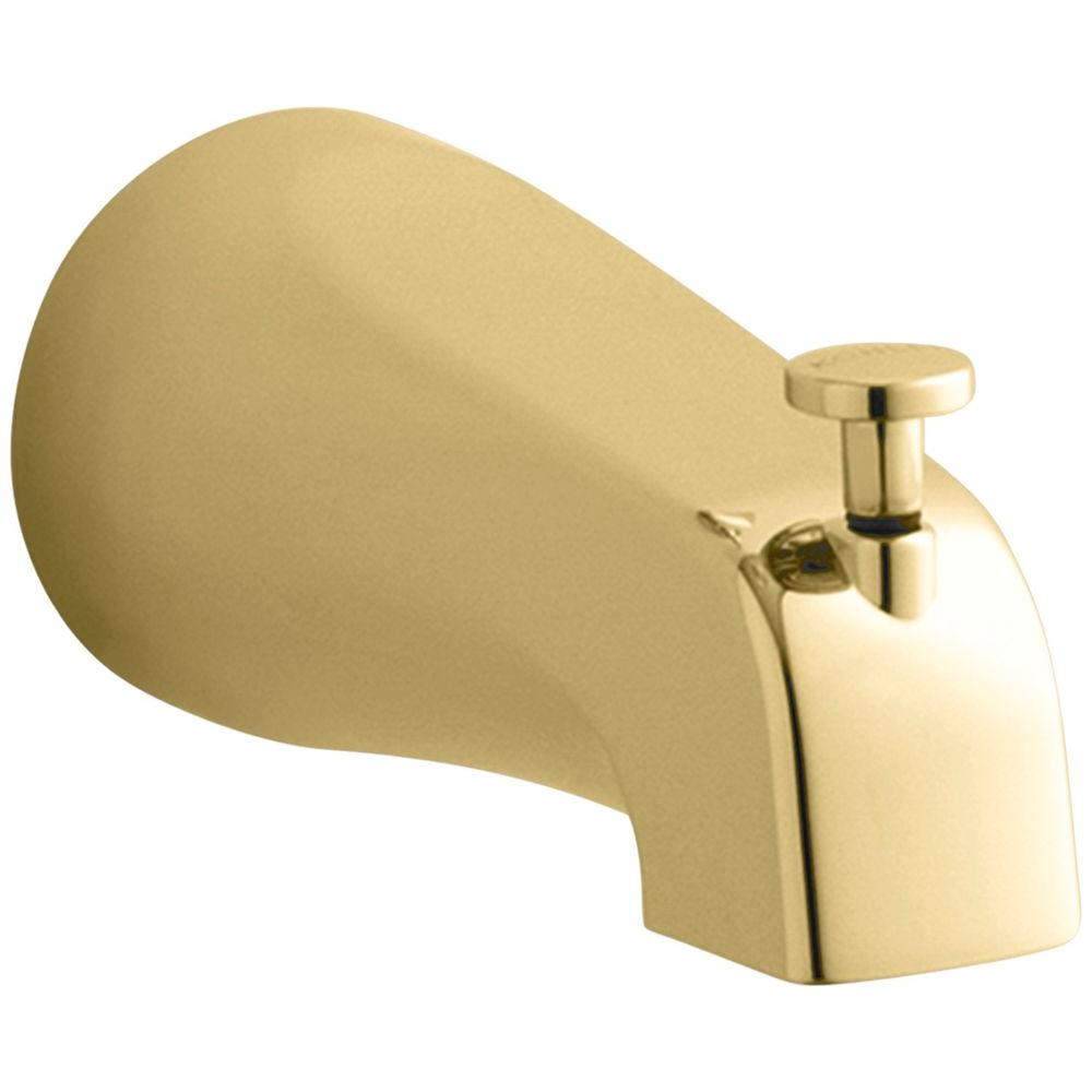 Devonshire Diverter Bath Spout with Slip-Fit Connection in Vibrant Polished