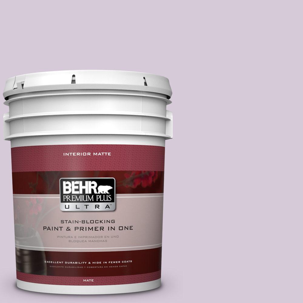 BEHR Premium Plus Ultra 5 gal. #670C-3 Purple Cream Flat/Matte Interior Paint