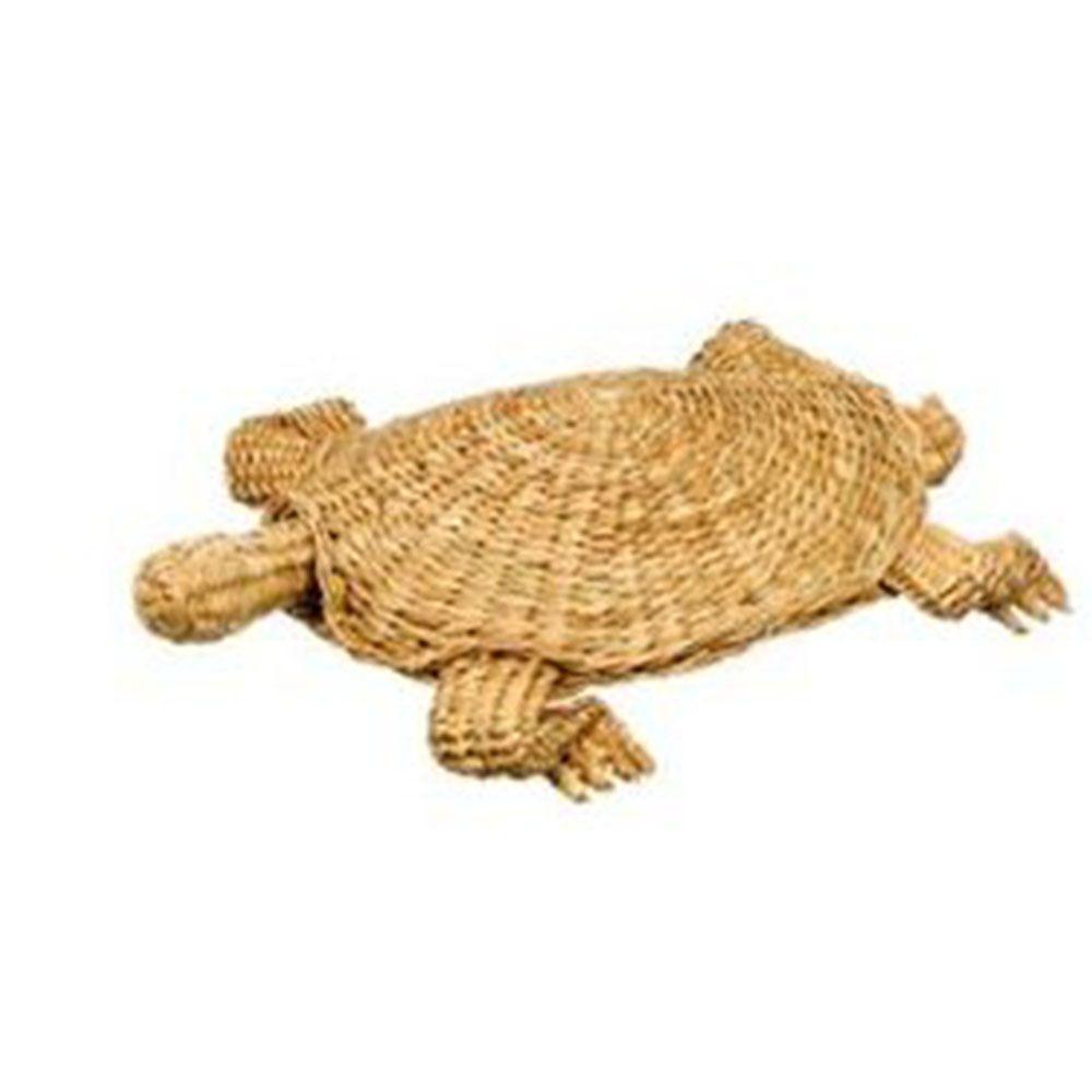 Sundry 19.5 in. Rattan Woven Turtle