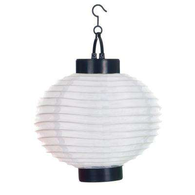 Battery outdoor ceiling lighting outdoor lighting the home depot 4 light white outdoor led solar chinese lantern aloadofball Gallery