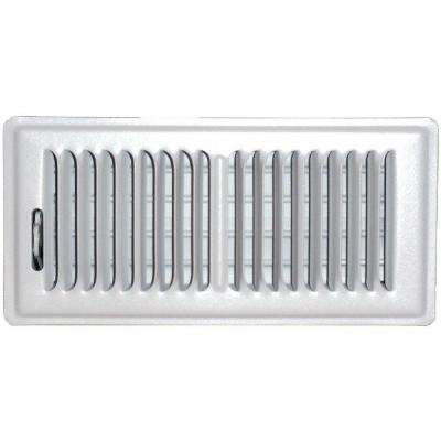4 in. x 14 in. Floor Vent Register, White with 2-Way Deflection
