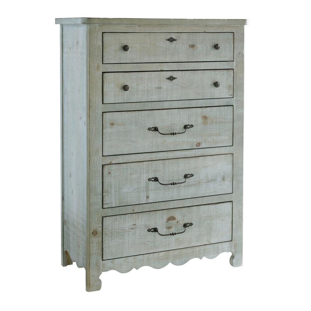 Progressive Furniture Chatsworth 5-Drawer Mint Chest B644-14