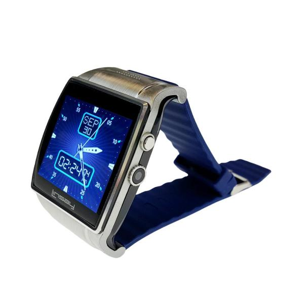 LINSAY Executive EX5LB Smart Watch Blue with Camera and Micro SD Card Slot up to 64GB