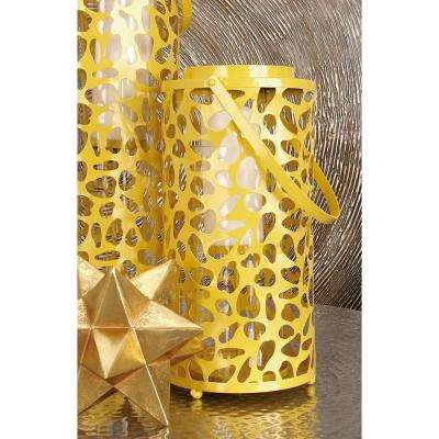 24 in. Mustard Gold Candle Lantern