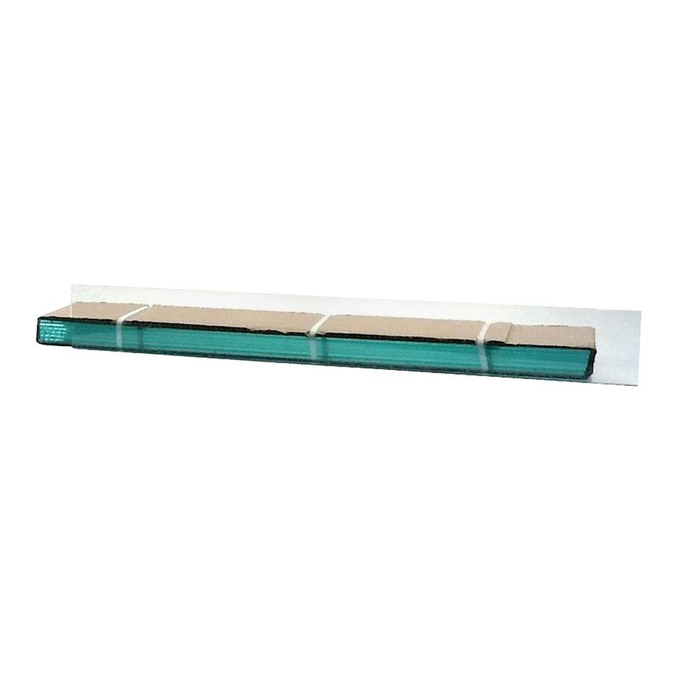 TAFCO WINDOWS 31.5 in. x 4 in. Jalousie Slats of Glass with Clear Polished Edges 5/CA