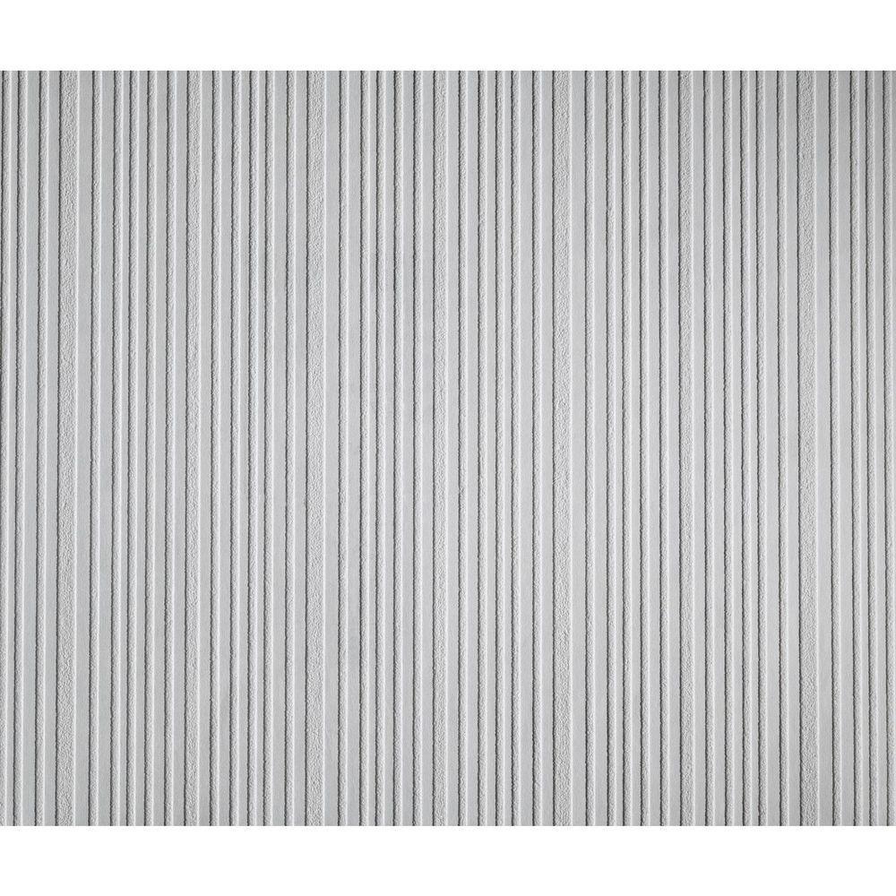 York Wallcoverings 57.75 sq. ft. Patent Decor Varied Stripe Paintable Wallpaper