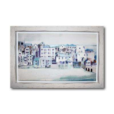 Coastal Scene Framed Canvas Wall Art
