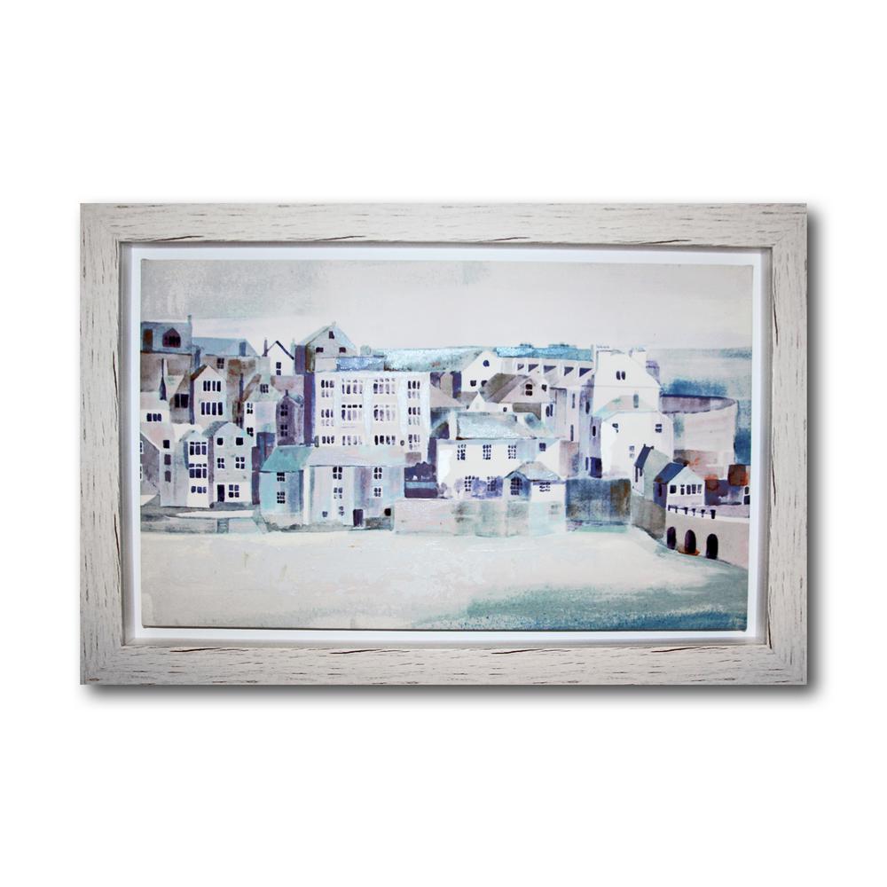 Coastal Scene Framed Canvas Wall Art