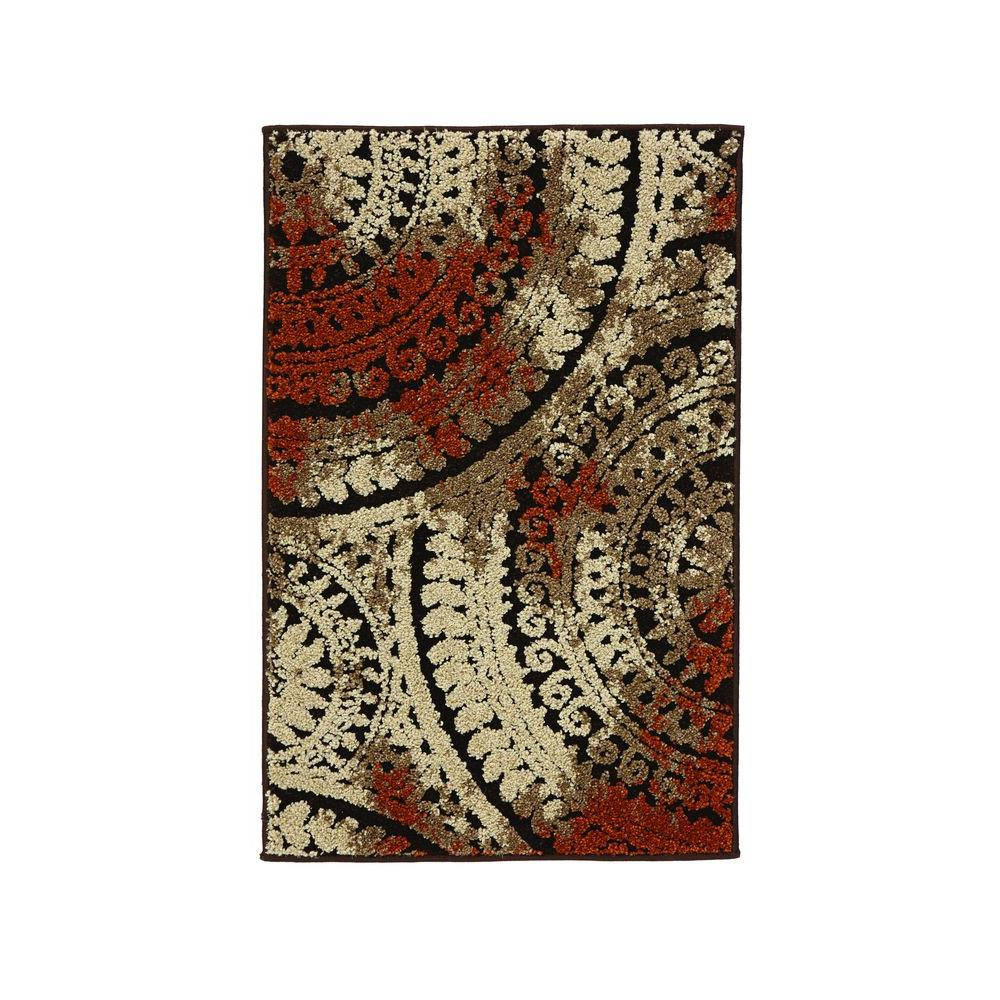 Home decorators collection spiral medallion brown 2 ft x for International home decor rugs