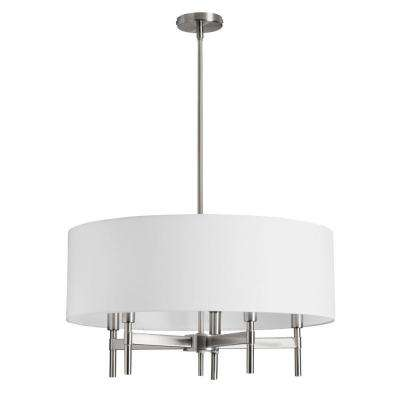 Larkin 5-Light Satin Chrome Chandelier