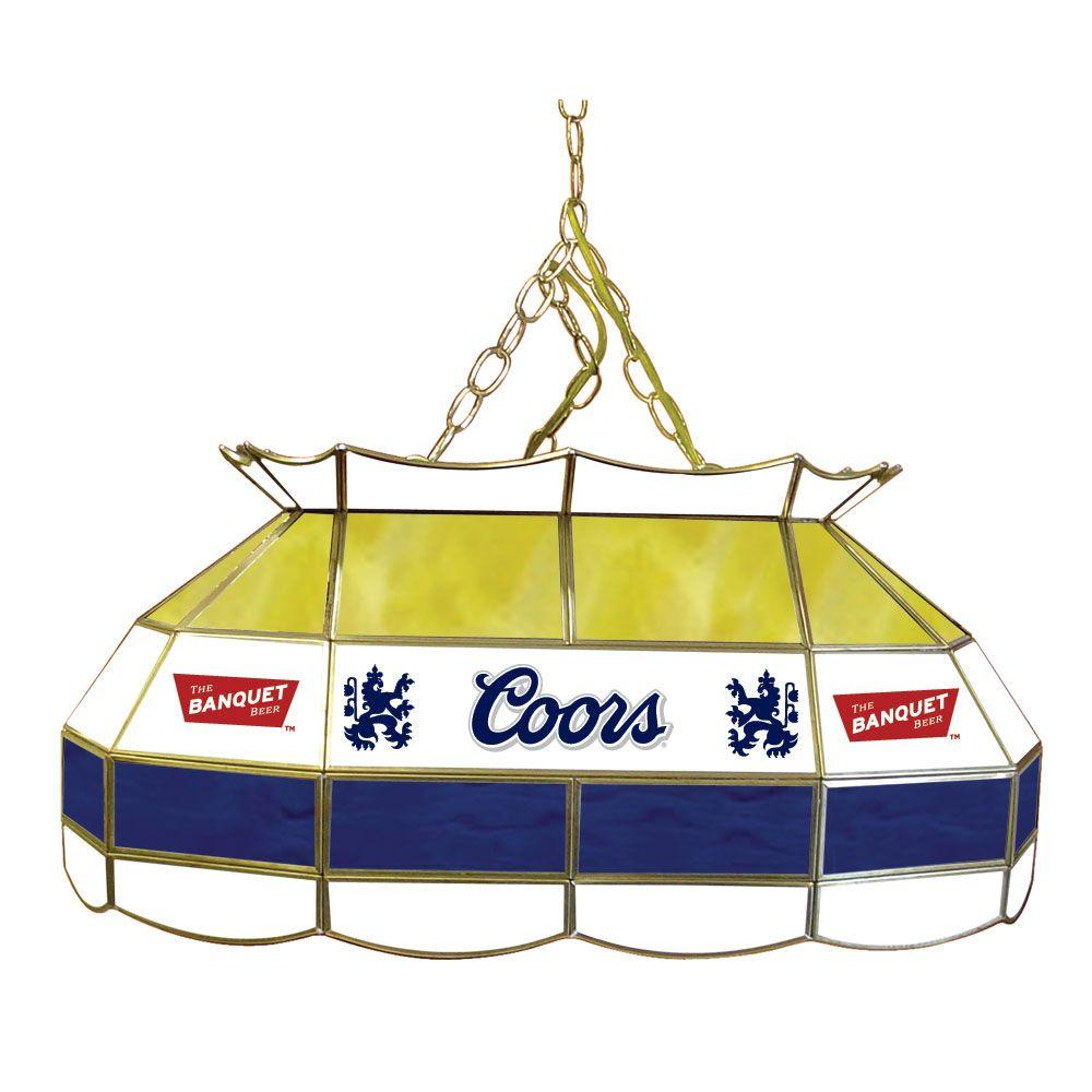 Trademark Coors Banquet 28 in. Stainless Steel Pool Table Lamp