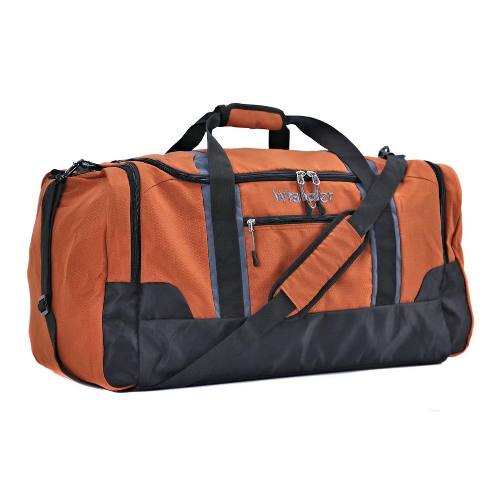 20 in. Burnt Orange Multi-Pocket Sport Duffel Bag
