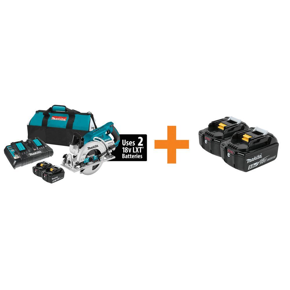 Makita 18-Volt X2 LXT Circular Saw w/Battery Pack