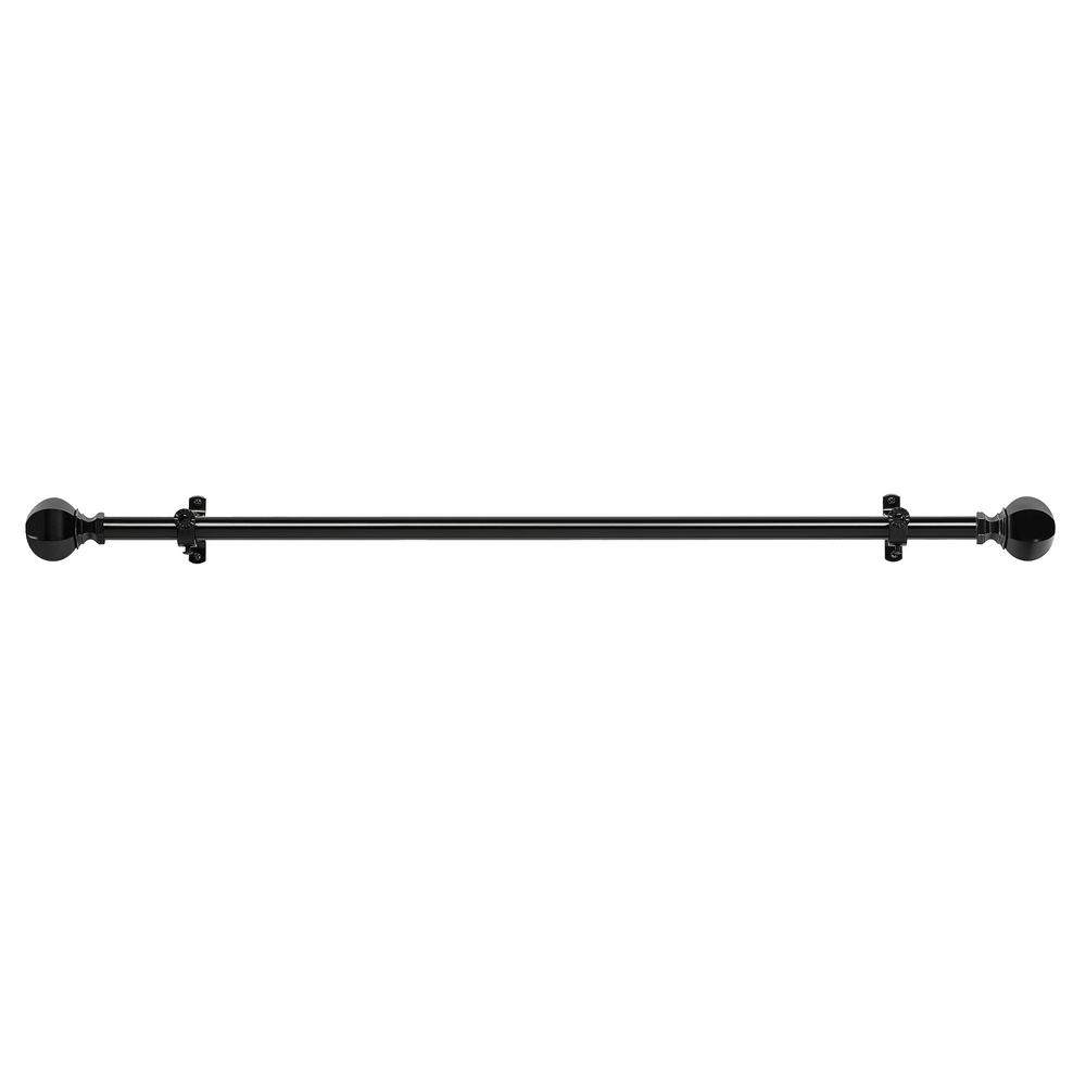 66 in. to 120 in. Buono II Black Regent Decorative Rod