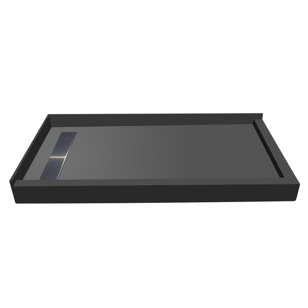 42 in. x 48 in. Double Threshold Shower Base with Left