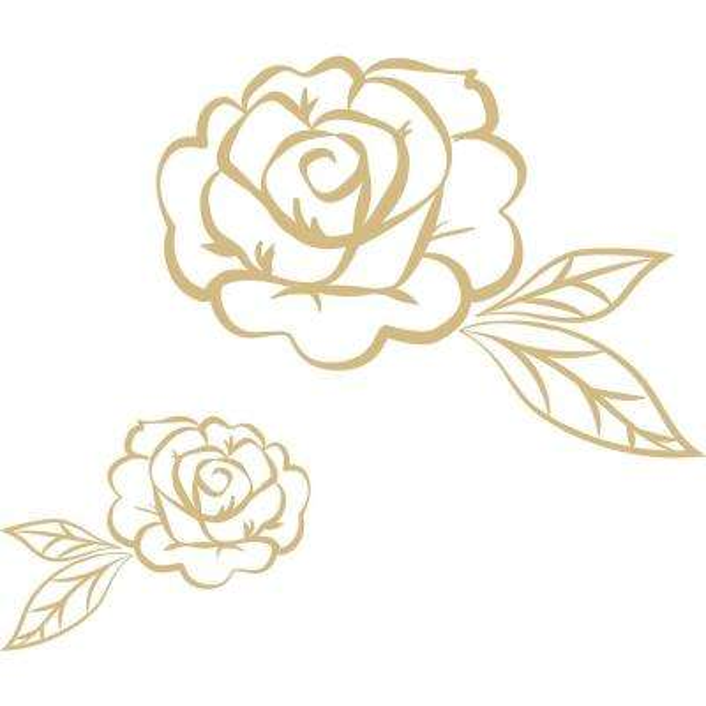 Metallic Stay Rose Wall Art Kit Decal