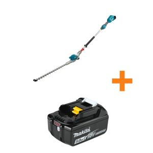 18V LXT Lithium-Ion Brushless Cordless 20 in Articulating Pole Hedge Trimmer, Tool Only with Bonus 18V LXT 5.0Ah Battery