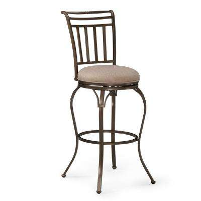 Delia 30 in. Copper Brown Swivel Bar Stool