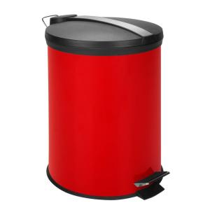 Honey Can Do 3 Gal Red Round Metal Step On Touchless