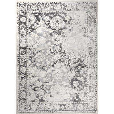Jersey Gray/Ivory 5 ft. x 7 ft. indoor Area Rug