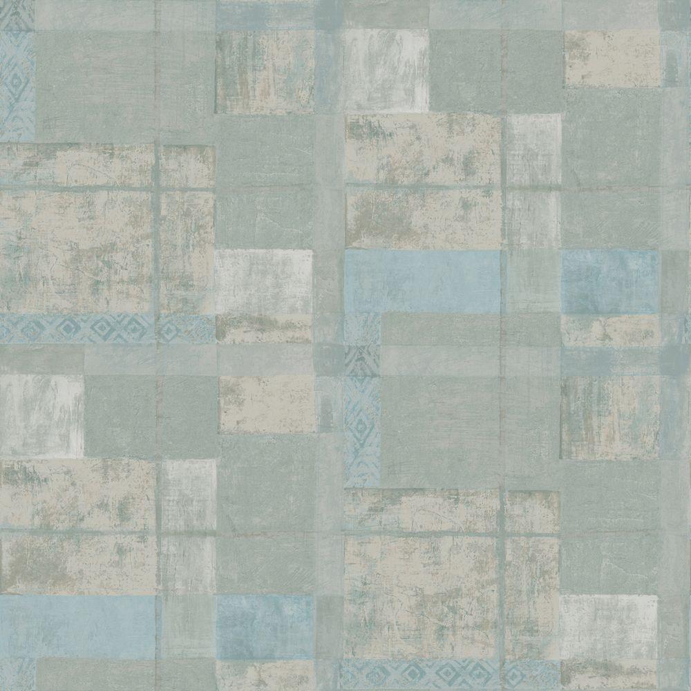 The Wallpaper Company 56 sq. ft. Neutral Ethnic Plaid Wallpaper