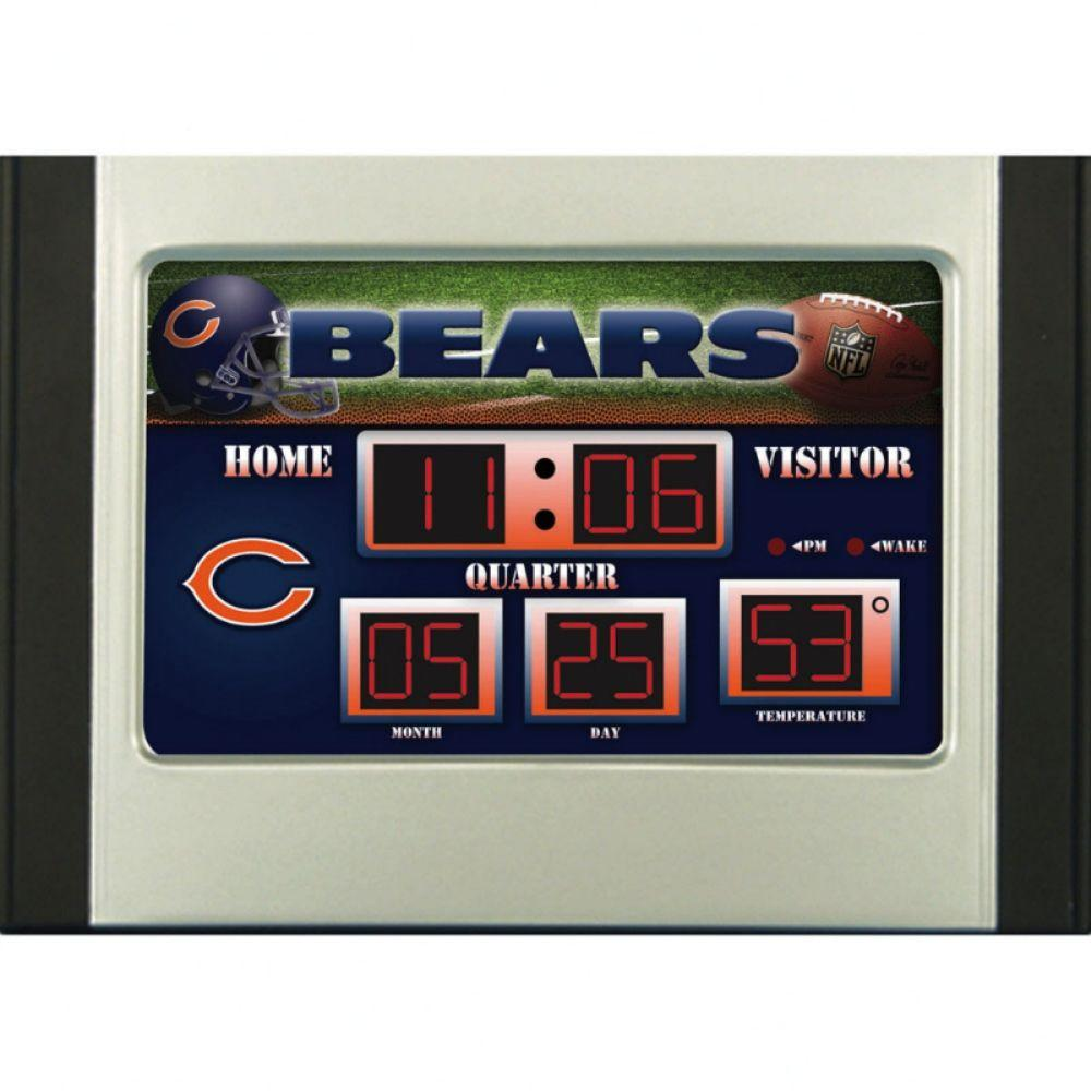 null Chicago Bears 6.5 in. x 9 in. Scoreboard Alarm Clock with Temperature