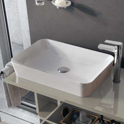 Ultra Vessel Bathroom Vessel Sink in Ceramic White