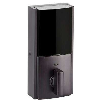 Obsidian Venetian Bronze Keyless Electronic Touchscreen Deadbolt Featuring Z-Wave Technology