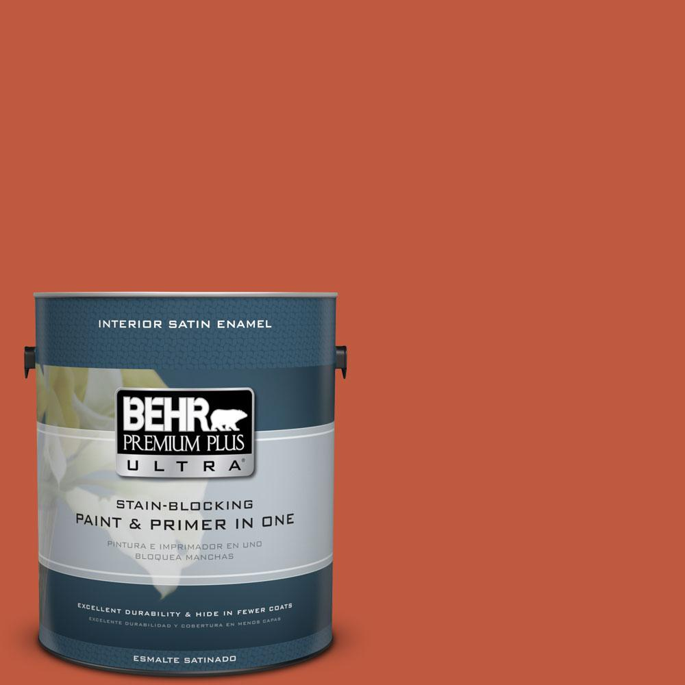1-gal. #HDC-FL14-3 Fall Foliage Satin Enamel Interior Paint