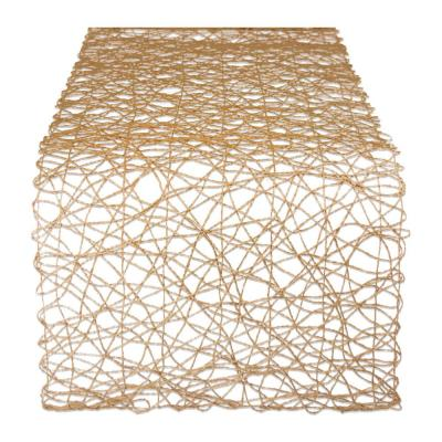 Taupe Woven Paper Table Runner