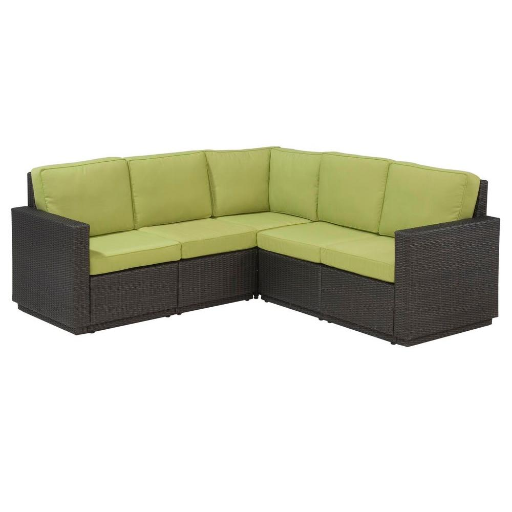 Home Styles Riviera Green Apple Patio Sectional Sofa