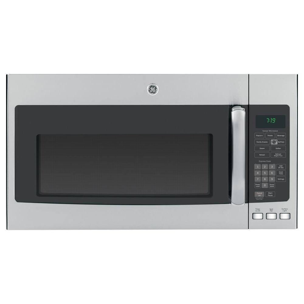 GE 1.9 cu. ft. Over the Range Microwave in Stainless Steel with Sensor Cooking