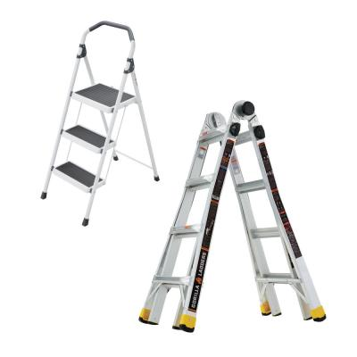 Gorilla Ladders 18 Ft Reach Mpxa Aluminum Multi Position Ladder With 300 Lbs Load Capacity Type Ia Duty Rating Glmpxa 18 The Home Depot