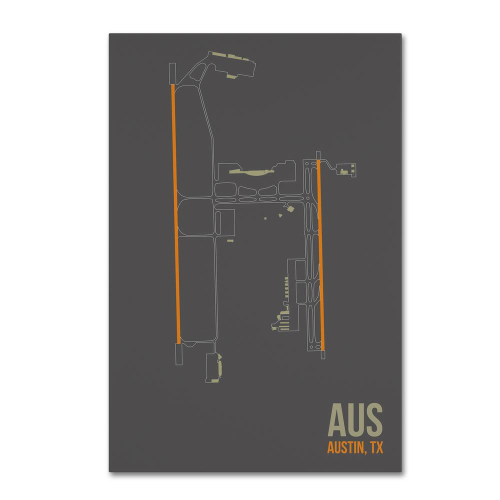 Aus Airport Layout By 08 Left Canvas Wall Art