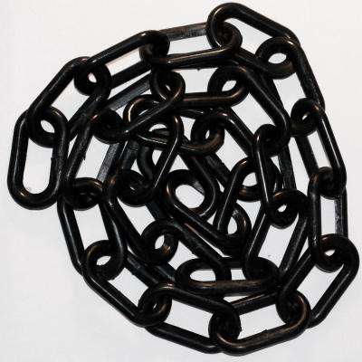 2 in. x 50 ft. Black Plastic Chain