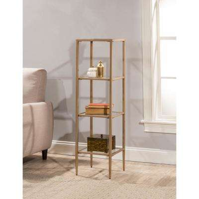 Harlan Gold Stand with 4-Shelves