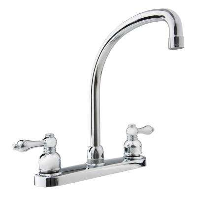 Single-Handle Standard Kitchen Faucet with Hi-Arcing Spout in Chrome
