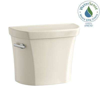 Wellworth 1.6 GPF Single Flush Toilet Tank Only in Almond