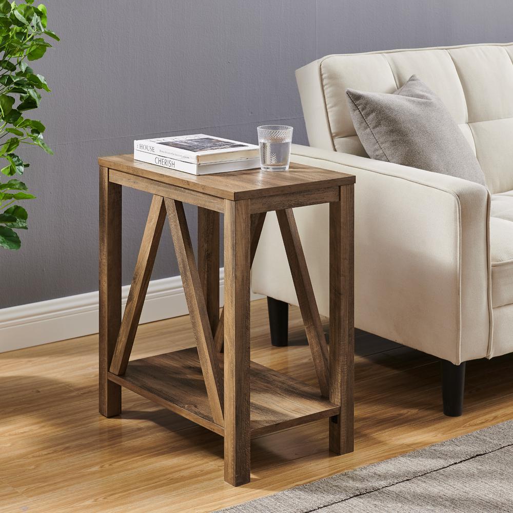 Narrow A Frame Side Table - Reclaimed Barnwood