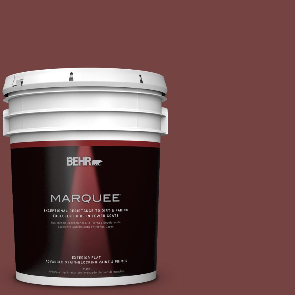 BEHR MARQUEE 5-gal. #S130-7 Cherry Cola Flat Exterior Paint
