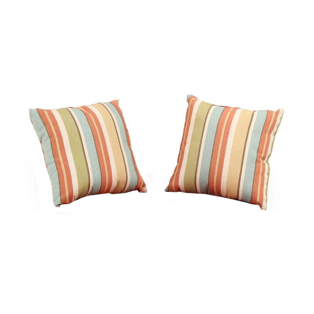 Martha Stewart Living Charlottetown Quarry Red Outdoor Throw Pillow (2-Pack)