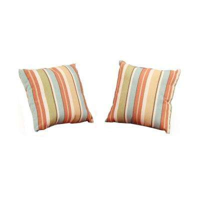 Charlottetown Quarry Red Outdoor Throw Pillow (2-Pack)