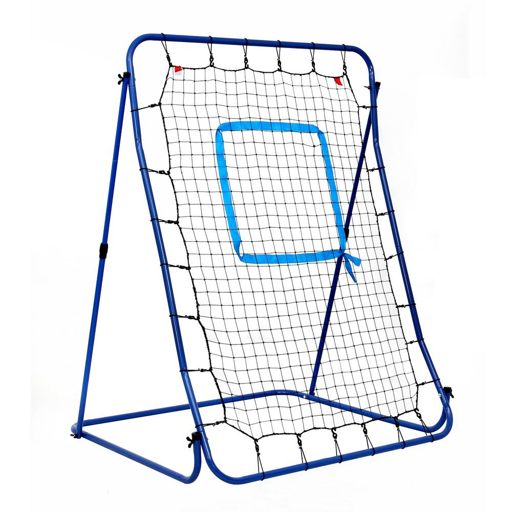Hathaway Carom Baseball Pitching Rebound Net All Weather System with Adjustable Steel Frame and Storage Bag