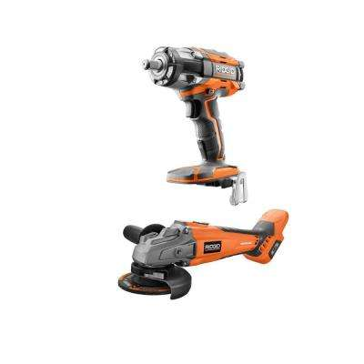18-Volt OCTANE Cordless Brushless 2-Tool Combo Kit with 4-1/2 in. Angle Grinder and 1/2 in. Impact Wrench (Tools Only)