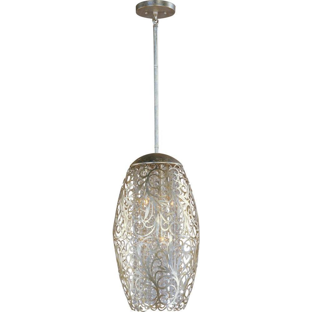 Arabesque 6-Light Golden Silver Pendant