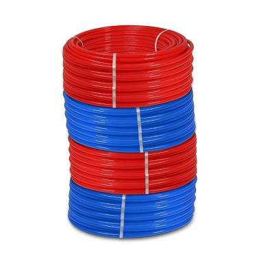 1/2 in. x 500 ft. and 3/4 in. x 500 ft. PEX Tubing Potable Water Pipe - 2 Red 2 Blue
