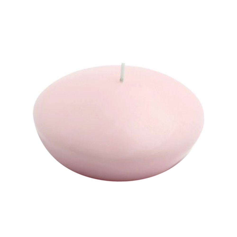 4 in. Light Rose Floating Candles (Box of 3), Reds / Pinks